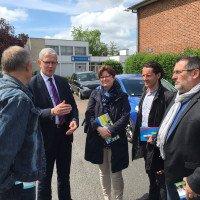 Visite au cœur d'Arras-Ouest avec le président du Département